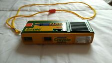 Crayola yellow green flash film camera, retro, kids