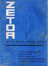 ZETOR 5711 5713 5745 5748  TRACTOR PARTS MANUAL