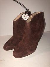 Sole Society Burgundy Suede Daphne Stiletto Heel Bootie Ankle Boot 5.5 New
