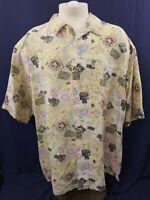 Men's Vintage GAP Hawaiian Print Short Sleeved Button Down Shirt Beautiful Cond