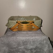 Longaberger 2001 Woven Memories Basket, Embroidered Liner, Protector Combo