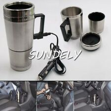 Hot 2 In 1 12V Car Auto Adapter Heated Travel Mug Thermos Heating Cup Kettle
