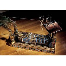 CL2849 - Luxor Sculptural Glass-Topped Coffee Table -Sarcophagus of King Tut!