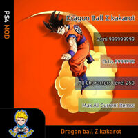 Dragon Ball Z Kakarot (PS4 Mod)-Max Zeni/Orbs/Level/Items