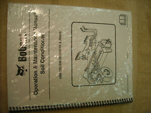 Bobcat  Operation, Maintenance Manual 48SCM soil conditioner