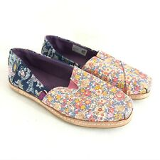 Toms Womens Classic Espadrille Alpargatas Slip On Canvas Floral Colorful 6.5
