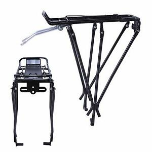Alloy Bicycle Rear Cargo Rack Carrier Luggage Pannier Rack for Disc Brake Bikes