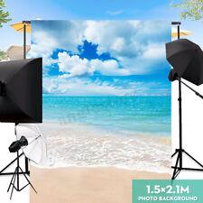 5X7Ft Sea Wave Sky Beach Photography Background Backdrop Studio Prop 1.5×2.1m