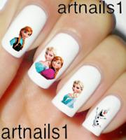 Frozen Disney Nail Elsa Ana Art Water Decals Stickers Manicure Salon Mani Polish