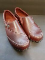 *Read*Clarks Womens Ashland Lane Q Leather Closed Toe Loafers Burgundy, Size 9.5