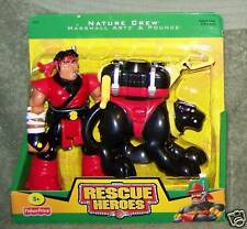 RESCUE HEROES 2005 NATURE CREW MARSHALL ARTZ & POUNCE FIGURE SET