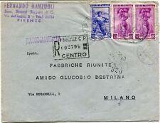 1951 Italia al Lavoro RACCOMANDATA Succ. Binazzi Biagiotti Firenze F.R.A.G.D.