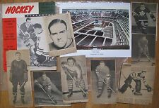 Hockey: 1930s/40s news clippings; old Boston Garden photo; 1962 Hockey Pictorial