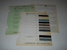 1939 OLDSMOBILE PAINT CHIP CHART COLORS SHERWIN WILLIAMS PLUS MORE