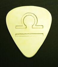 Zodiac - Libra - Solid Brass Guitar Pick, Acoustic, Electric, Bass