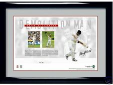 ADAM GILCHRIST AUSTRALIA DEMOLITION MAN SIGNED LIMITED PRINT WITH CERTIFICATE