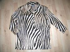GERRY WEBER Crash Bluse Damen elegant 46 Tiger braun gold Pailetten TOP  73 59a2eb1fe2