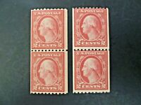 USA 2 Vertical Pairs Wash-Franklin 1916-22 Issue #488 MNH - See Description