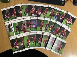 "Bayern Munich Legends Signed 6"" x 4"" Official Club Promo Cards x 29 Kahn, Muller"