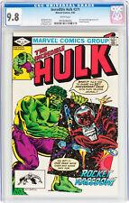 Incredible Hulk Comic #271 CGC 9.8 1st Comic Appearance of Rocket Raccoon NM/MT