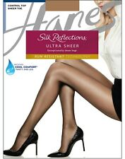 Hanes Silk Reflections Ultra Sheer Control Top Pantyhose, B260, Barely There, CD