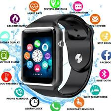Smart Watch Bluetooth Waterproof GSM SIM Phone Cam For Android Samsung iOS A1 GO