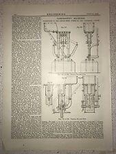 Core Making Machines, Tottenham, London: 1912 Engineering Magazine Print