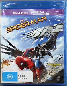 "SPIDER-MAN - HOMECOMING (BLU-RAY +UV, 2017) BRAND NEW / SEALED ""REGION B"""