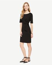 Ann Taylor - Woman's Large (12-14) Black Tied Matte Jersey Dress $98.00 (H)