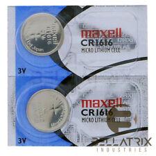 Maxell CR1616 Lithium 3V Battery Factory Hologram Packaging (2 Batteries)