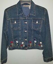Jenni by Jennifer Moore Blue Lined Denim Jean Jacket Girls Size L Outerwear NEW