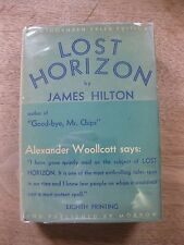 SIGNED + LOST HORIZON by James Hilton - 1st/8th Morrow HCDJ 1934 - provenance