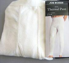 Mens Thermal Underwear Pants Joe Boxer XL Ivory USA Seller Long Johns