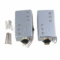 2 x Silver Bridge & Neck Humbucker Pickup for Electric Guitar
