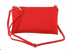 Zip Faux Suede Outer Handbags with Adjustable Strap