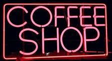 "Neon Light Sign 32""x24"" Coffee Shop Rectangle Open Beer Bar Artwork Decor Lamp"