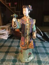 Traditional Chinese Lady - Shiwan Chinese Porcelain  Ceramic Lady Figurine