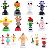 Popular Solar Powered Dancing Swinging Bobble Doll Toy Christmas Home Decoration