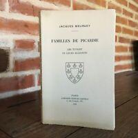 Jacques Meurgey Famiglie Di Picardie I Tupigny E Loro Anelli Saffroy 1935