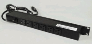 Wiremold Legrand Black 6-Outlet 15A Rackmount Power Strip 6 Ft Cord J06B0BX