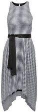 Banana Republic Black & White Gingham Tie Waist Hankerchief Dress Size 4