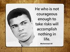 Muhammad Ali inspirational quote decorative metal sign tin wall door plaque