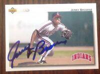 Jerry Browne Hand Signed 1992 Upper Deck Baseball Card Cleveland Indians