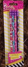 Barbie 4 pk Pencils Girls 3 yrs + New 2015