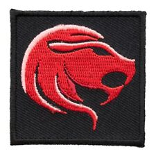 Zodiac Leo Red Lion Embroidered Patch, Astrology Sign Patches