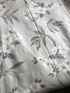 Laura Ashley Calissa Marble Grey Floral Curtains