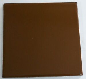Tile 4x4 Bark Brown Glossy Retired Color Mosaic Vintage Ceramic 550-455 1 Pc