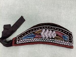 Native American Indian Iroquois Beaded GLENGARRY cap C. Mid 19th Century
