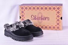 Women's Skechers Shindigs- Fortress Faux Fur Lined Mules Black