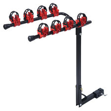 "New 4 Bicycle Bike Rack 1-1/4""&2"" Hitch Mount Carrier Car Truck AUTO SUV Swing"